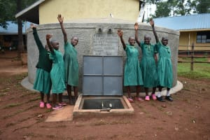 The Water Project: Friends School Mutaho Primary -  Posing With The Tank