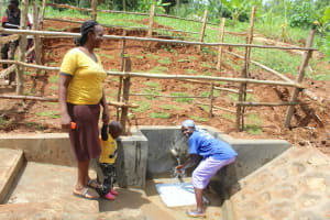 The Water Project: Ebutindi Community, Tondolo Spring -  Checking Out The New Spring