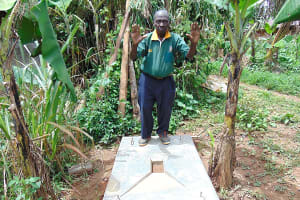 The Water Project: Bumavi Community, Joseph Njajula Spring -  Proud New Owner Of A Sanitation Platform