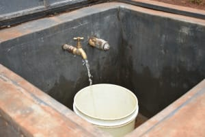 The Water Project: Friends School Mutaho Primary -  Clean Water Flowing
