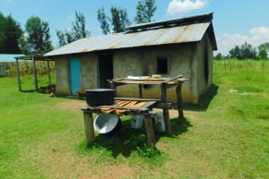 The Water Project: Friends School Vashele Secondary -  Kitchen With Dishrack Out Front