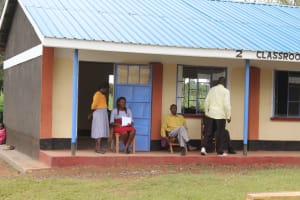 The Water Project: Mukoko Baptist Primary School -  Staff Outside The Staffroom