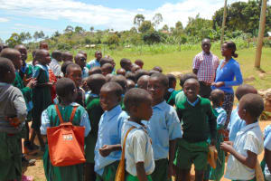 The Water Project: St. Kizito Kimarani Primary School -  Pupils Being Addressed By Teachers At Morning Assembly