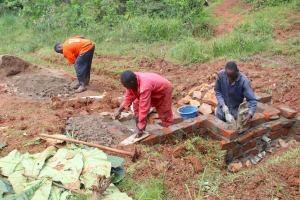 The Water Project: Shisere Community, Richard Okanga Spring -  Brick Work