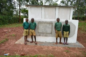The Water Project: Friends School Mutaho Primary -  Boys At Their Vip Latrines