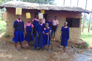 The Water Project:  Students Delivering Water To The Kitchen