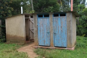 The Water Project: Sawawa Secondary School -  Boys Latrine Block