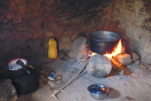 The Water Project: Gidimo Primary School -  Fireplace Inside The Kitchen