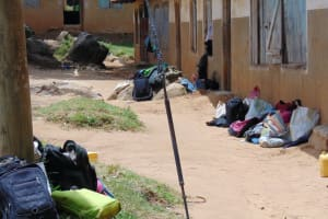 The Water Project: St. Kizito Kimarani Primary School -  Students Bags Outside Their Classrooms