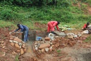 The Water Project: Shisere Community, Richard Okanga Spring -  Rub Wall And Stairs Underway