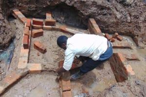 The Water Project: Bumavi Community, Joseph Njajula Spring -  Brick Work