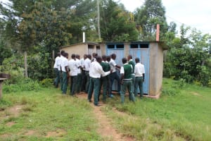 The Water Project: Sawawa Secondary School -  Boys Queueing At The Latrines