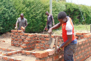 The Water Project: Gimariani Secondary School -  Latrine Wall Construction
