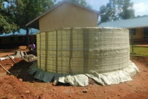The Water Project: Friends School Mutaho Primary -  Tarps Laid For Cement Work