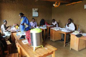 The Water Project: Sawawa Secondary School -  Teachers In The Staffroom
