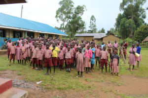 The Water Project: Mukoko Baptist Primary School -  Pupils At An Assembly