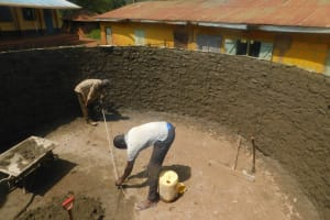 The Water Project: Friends School Mutaho Primary -  Cementing Inside The Tank