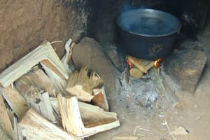 The Water Project: Kinu Friends Secondary School -  Food Cooking Inside The Kitchen