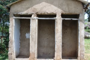 The Water Project: Gidimo Primary School -  Girls Latrines