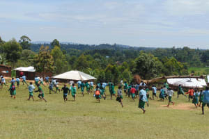 The Water Project: St. Kizito Kimarani Primary School -  Pupils Playing On Playground