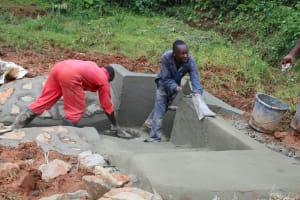The Water Project: Shisere Community, Richard Okanga Spring -  Outside Plaster