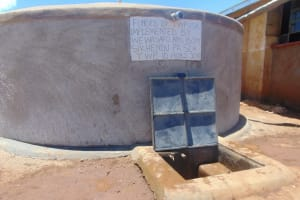 The Water Project: Sikhendu Primary School -  Completed Tank