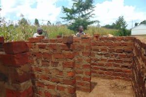 The Water Project: Sikhendu Primary School -  Latrine Construciton