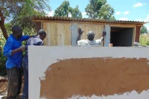 The Water Project: Sikhendu Primary School -  Latrine Construction