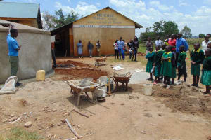 The Water Project: Sikhendu Primary School -  Students Learn About Their New Tank