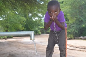 The Water Project: Tulimani Community A -  Drinking Water From The Well