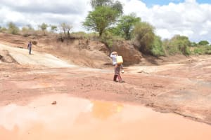 The Water Project: Kasioni Community B -  Carrying Container Filled With Water