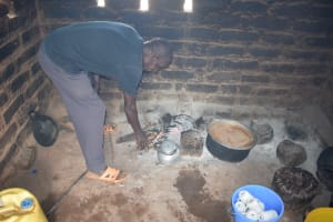 The Water Project: Kasioni Community B -  Cooking