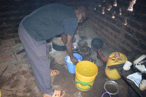 The Water Project: Kasioni Community B -  Inside Kitchen