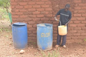 The Water Project: Kasioni Community B -  Water Storage Containers