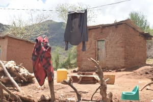The Water Project: Kasioni Community C -  Clothesline