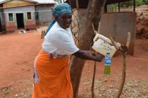 The Water Project: Kiteta Community -  Tippy Tap Handwashing Station