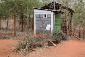 The Water Project: Kiteta Community A -  Latrine And Tippy Tap Handwashing Station