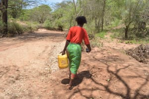 The Water Project: Kangalu Community B -  Carrying Water