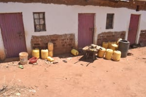 The Water Project: Kangalu Community C -  Water Storage Containers At Home