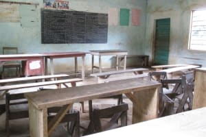 The Water Project: Lungi, Mamankie, DEC Mamankie Primary School -  Inside Classroom