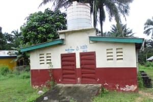 The Water Project: Lungi, Mamankie, DEC Mamankie Primary School -  School Latrine