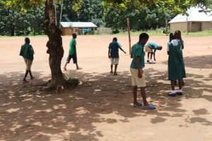 The Water Project: Lungi, Mamankie, DEC Mamankie Primary School -  Students Playing