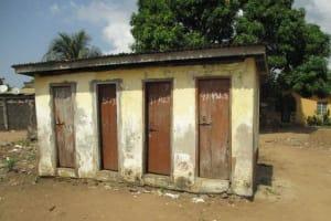 The Water Project: Lungi, Kasongha, DEC Kasongha Primary School -  Latrine