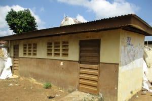 The Water Project: Lungi, Kasongha, DEC Kasongha Primary School -  Main Latrine