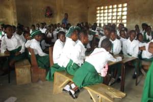The Water Project: Lungi, Kasongha, DEC Kasongha Primary School -  Pupils Inside Classroom