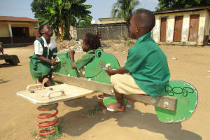 The Water Project: Lungi, Kasongha, DEC Kasongha Primary School -  Pupils Playing