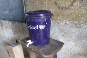 The Water Project: Lungi, Kasongha, DEC Kasongha Primary School -  Water Storage