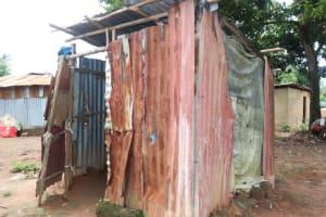 The Water Project: Lungi, Mahera, Mahera Health Clinic -  Bathing Shelter