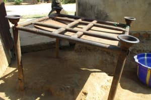 The Water Project: Lungi, Mahera, Mahera Health Clinic -  Dishrack
