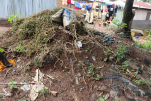The Water Project: Lungi, Mahera, Mahera Health Clinic -  Garbage Pit